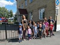 Ребята из досугового клуба посетили пожарную часть №10 города Сим